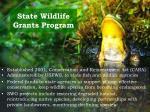 state wildlife grants program