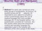 bourhis roth and macqueen 198912