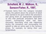 schofield m j walkom s sanson fisher r 199726