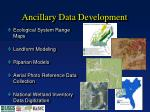 ancillary data development