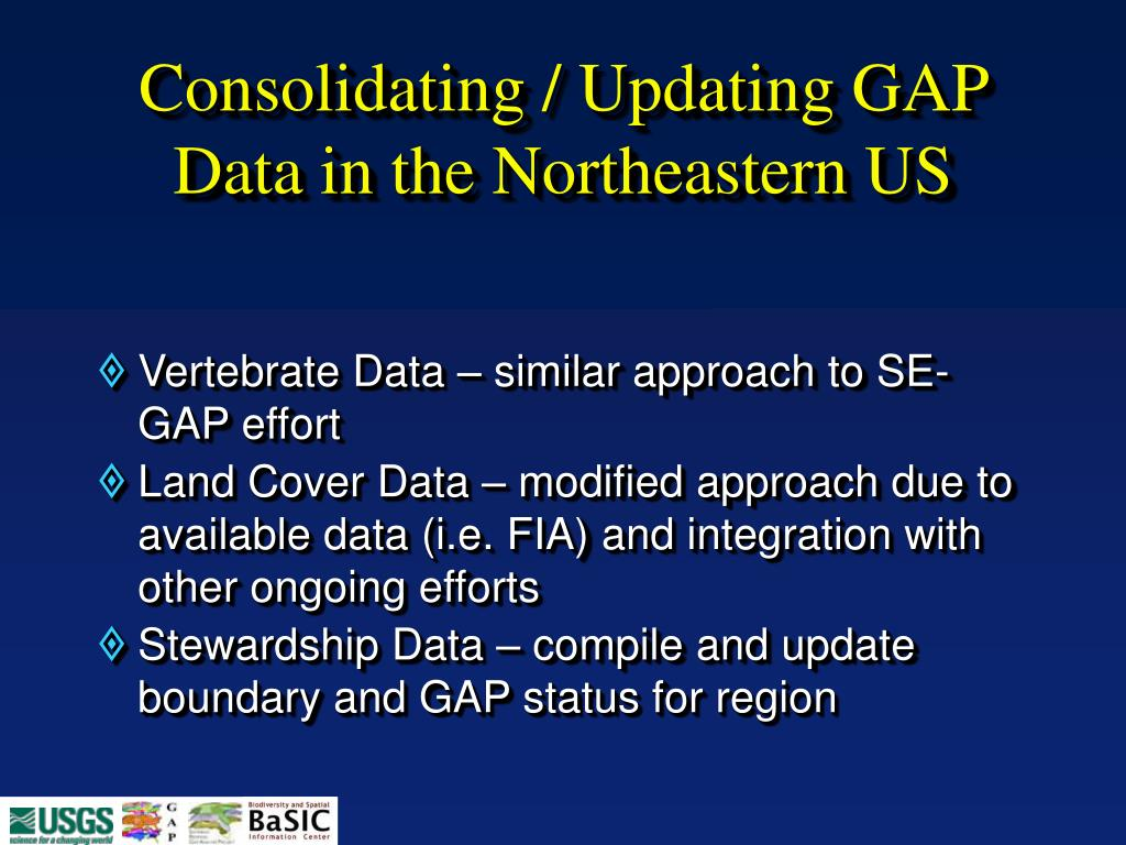 Consolidating / Updating GAP Data in the Northeastern US
