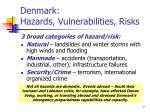 denmark hazards vulnerabilities risks