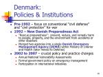 denmark policies institutions