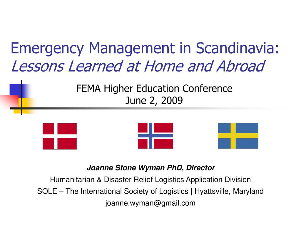 emergency management in scandinavia lessons learned at home and abroad l.