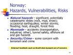 norway hazards vulnerabilities risks