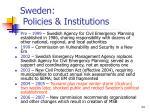 sweden policies institutions