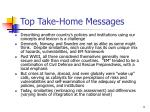 top take home messages