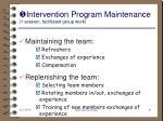 intervention program maintenance 1 session facilitated group work