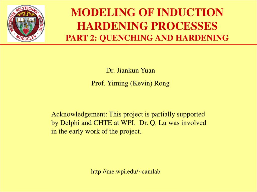 modeling of induction hardening processes part 2 quenching and hardening l.