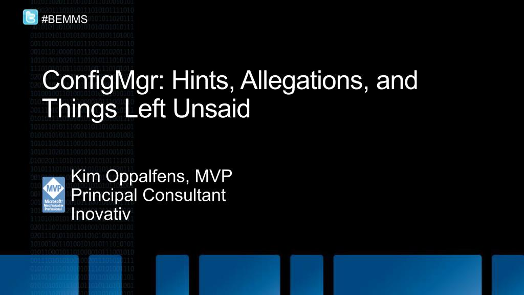 configmgr hints allegations and things left unsaid l.