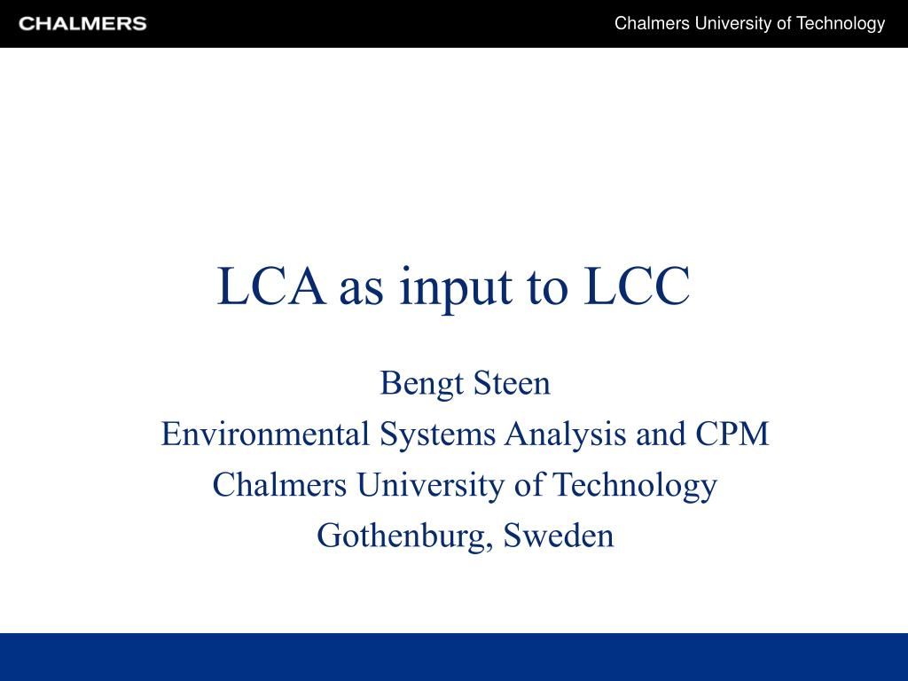 lca as input to lcc l.