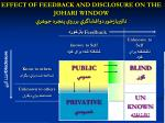 effect of feedback and disclosure on the johari window