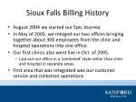 sioux falls billing history