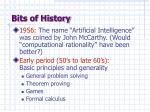 bits of history