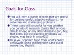 goals for class