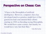 perspective on chess con