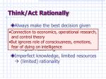 think act rationally