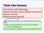 think like humans