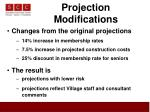 projection modifications