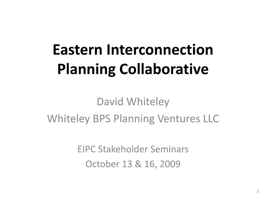 eastern interconnection planning collaborative l.