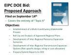 eipc doe bid proposed approach
