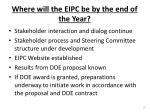where will the eipc be by the end of the year