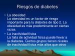 riesgos de diabetes