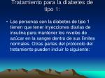 tratamiento para la diabetes de tipo 1