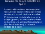 tratamiento para la diabetes de tipo 2