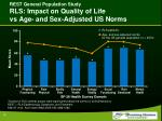 rest general population study rls impact on quality of life vs age and sex adjusted us norms