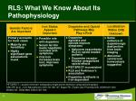 rls what we know about its pathophysiology
