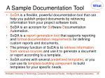 a sample documentation tool