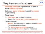 requirements database