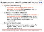requirements identification techniques