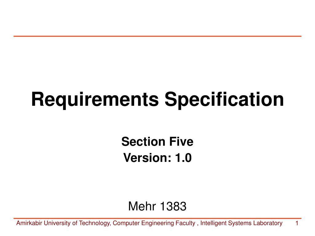 requirements specification l.