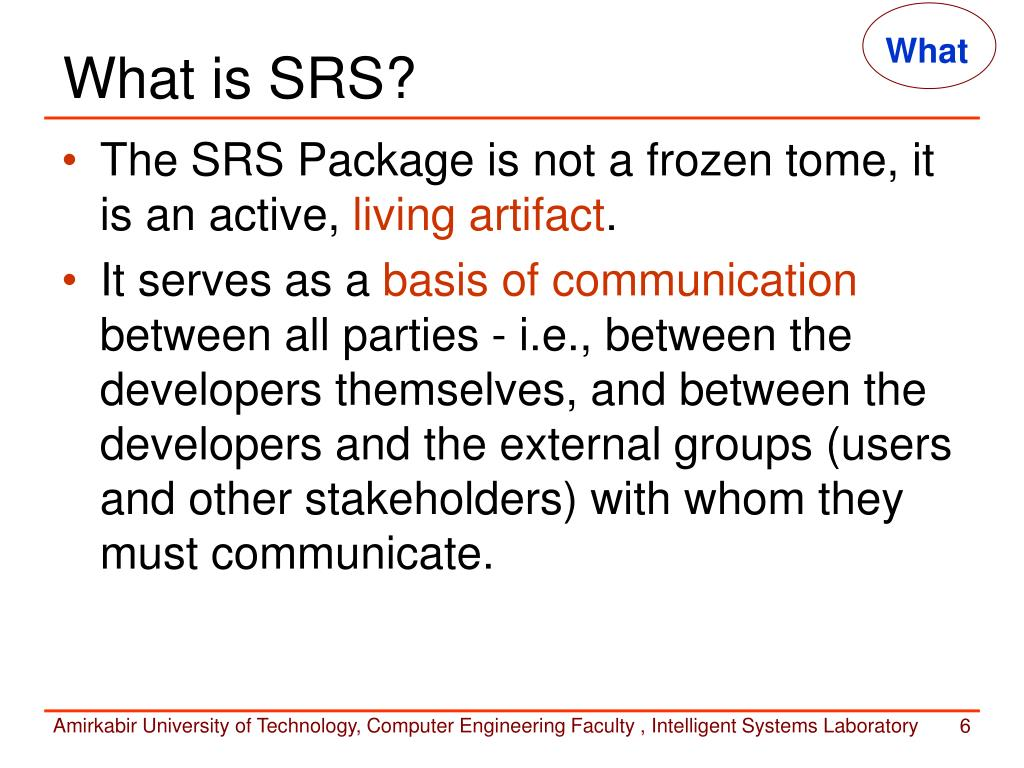 What Is Srs >> Ppt Requirements Specification Powerpoint Presentation