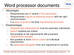 word processor documents