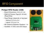 rfid component