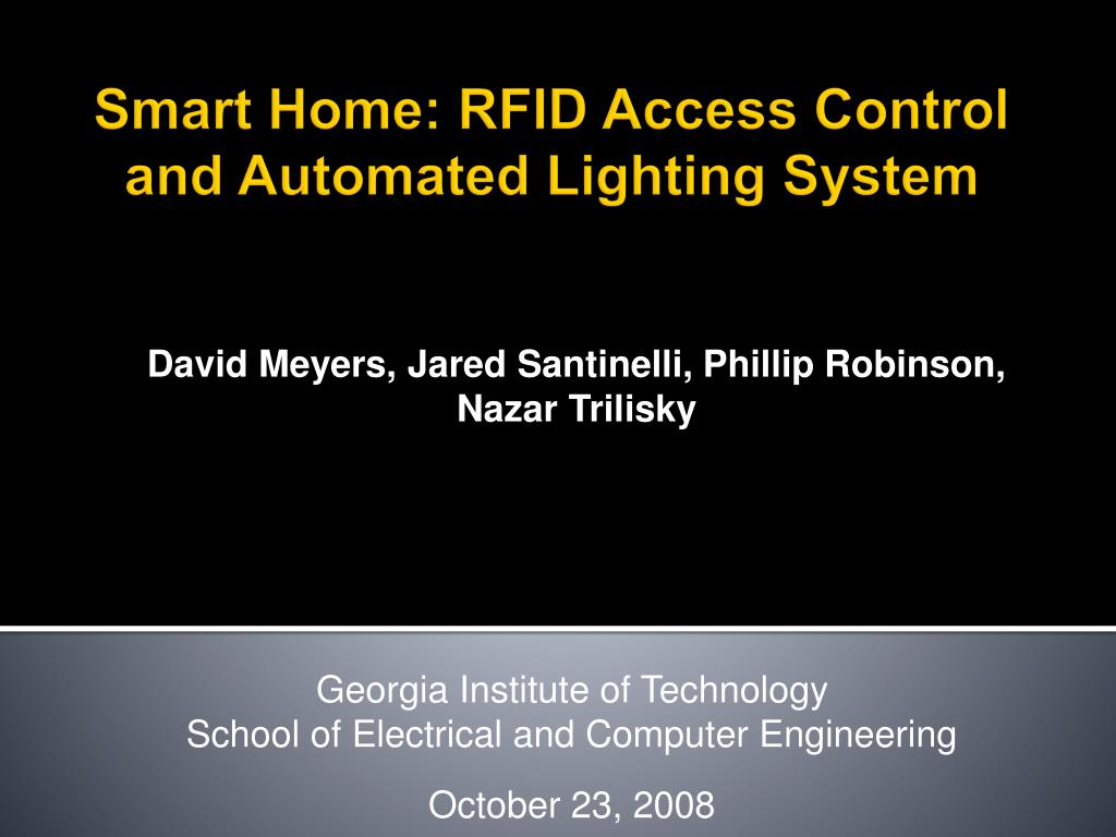 smart home rfid access control and automated lighting system l.