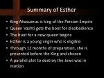 summary of esther