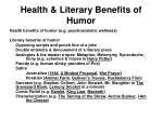 health literary benefits of humor