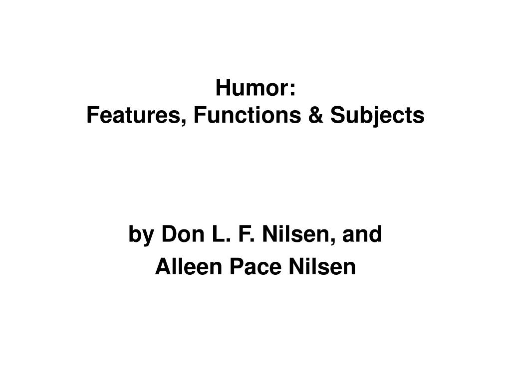humor features functions subjects l.