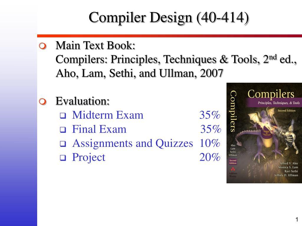 compiler design 40 414 l.