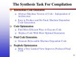 the synthesis task for compilation