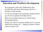 education and workforce development
