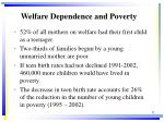 welfare dependence and poverty