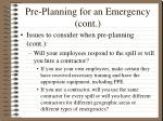 pre planning for an emergency cont