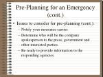 pre planning for an emergency cont33