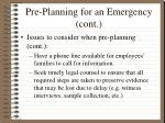 pre planning for an emergency cont34