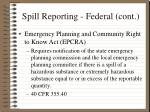 spill reporting federal cont11